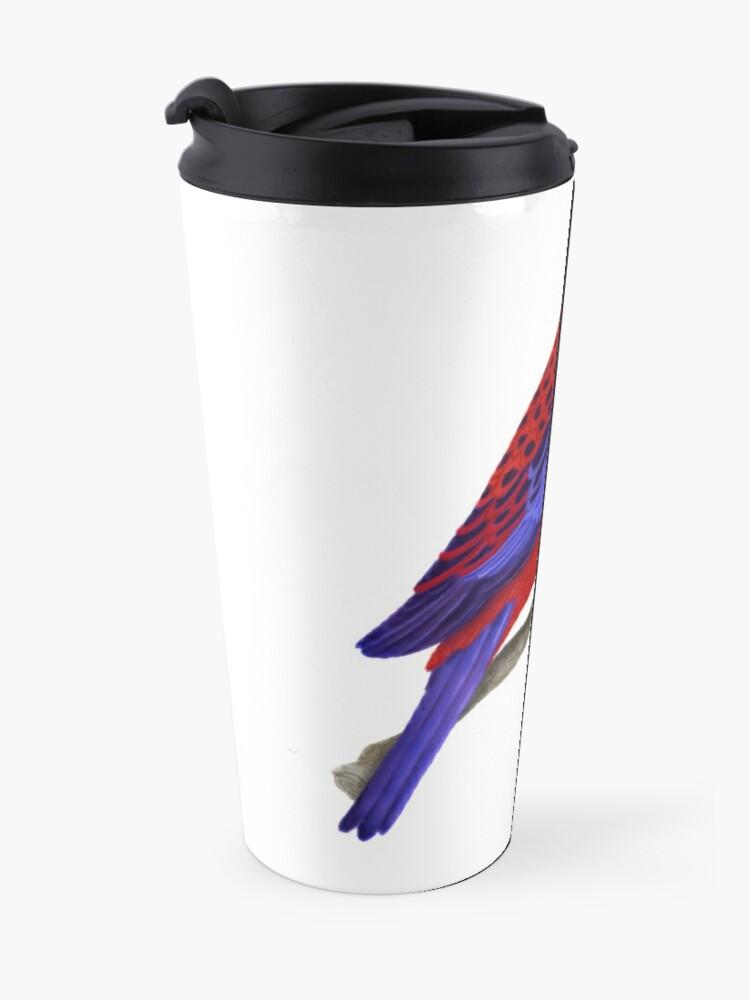 Alternate view of Crimson Rosella Bird Travel Mug