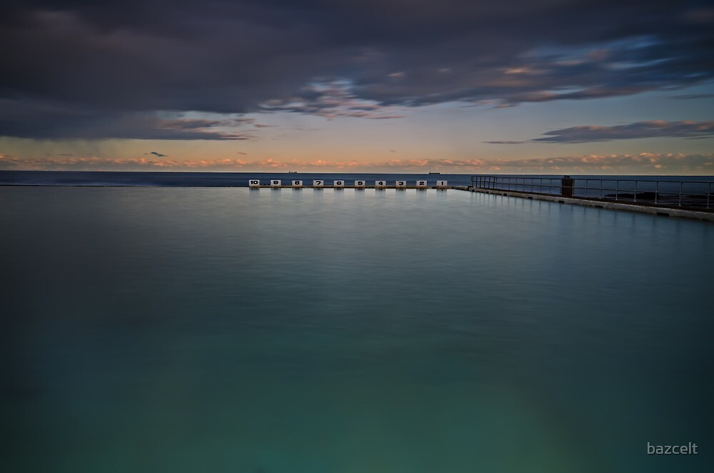 Line up!  Merewether Ocean Baths. by bazcelt