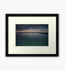 Line up!  Merewether Ocean Baths. Framed Print