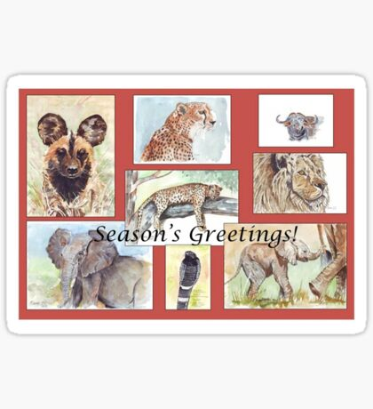 Season's Greetings from Africa Sticker