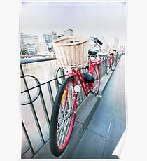 Day 5 - Wide Wednesday - Red Bicycle Poster