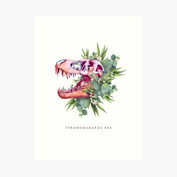 T. Rex Plants Art Print