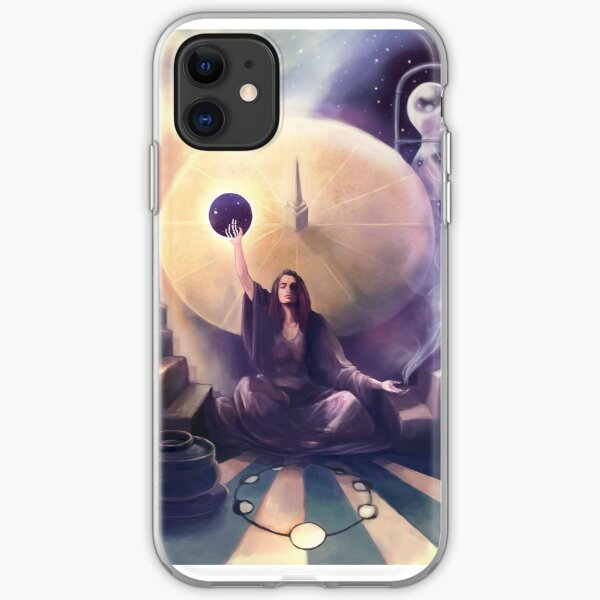 The Keeper of Time Fantasy Illustration iPhone Soft Case