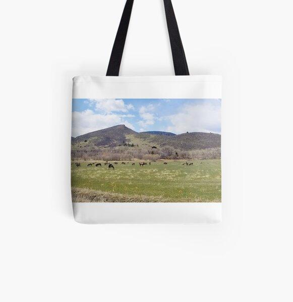 Front Range Elk Herd Lg All Over Print Tote Bag
