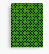 Basket Weave in Green Canvas Print