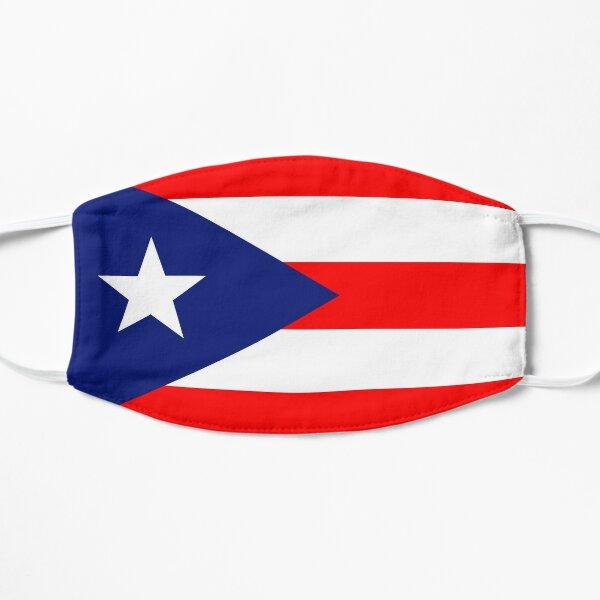 Bandera puertorriqueña Mascarilla plana