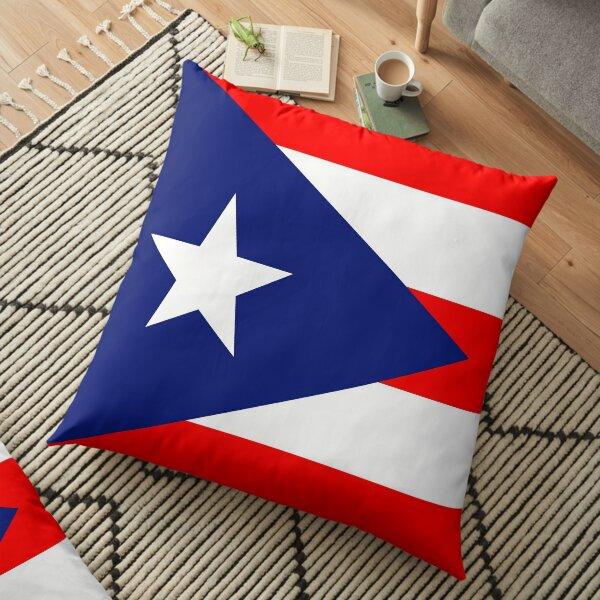 Puerto Rican Flag Floor Pillow