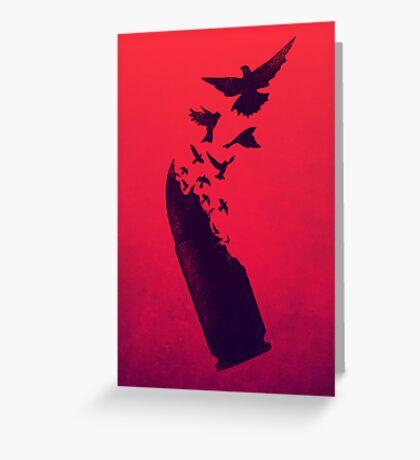 Bullet Birds Greeting Card