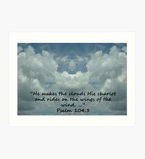 """Psalm 104:3""  by Carter L. Shepard Art Print"
