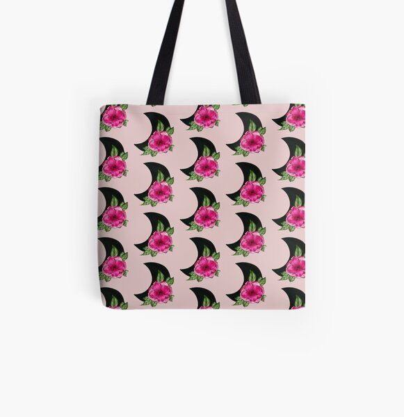 Moon Flower  All Over Print Tote Bag