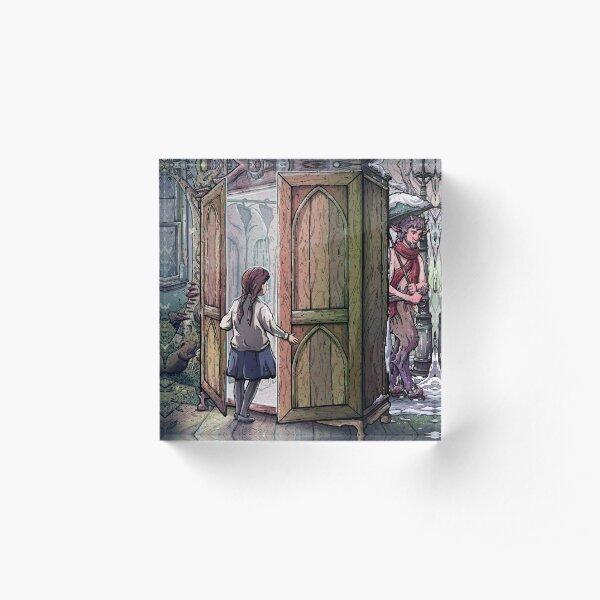 Lucy's Discovery, Narnia Fan Art Acrylic Block