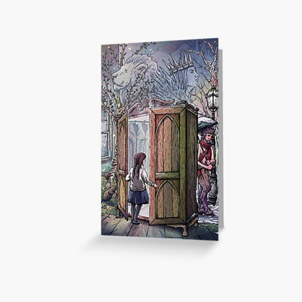 Lucy's Discovery, Narnia Fan Art Greeting Card
