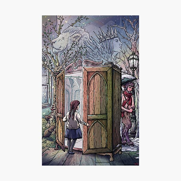 Lucy's Discovery, Narnia Fan Art Photographic Print