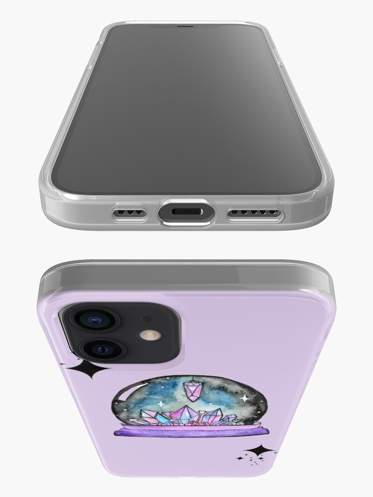 Alternate view of purple crystal ball watercolour art iPhone Case & Cover