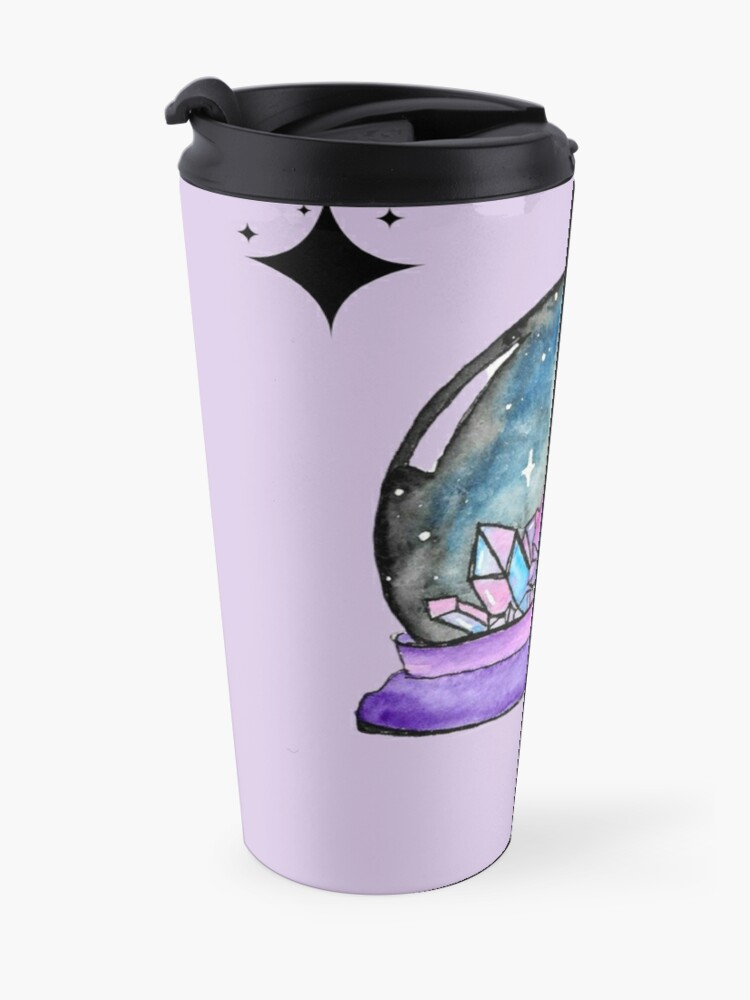 Alternate view of purple crystal ball watercolour art Travel Mug