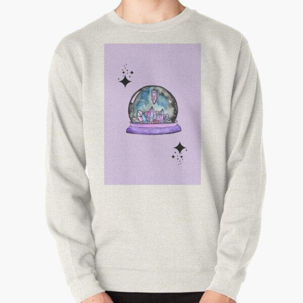 purple crystal ball watercolour art Pullover Sweatshirt