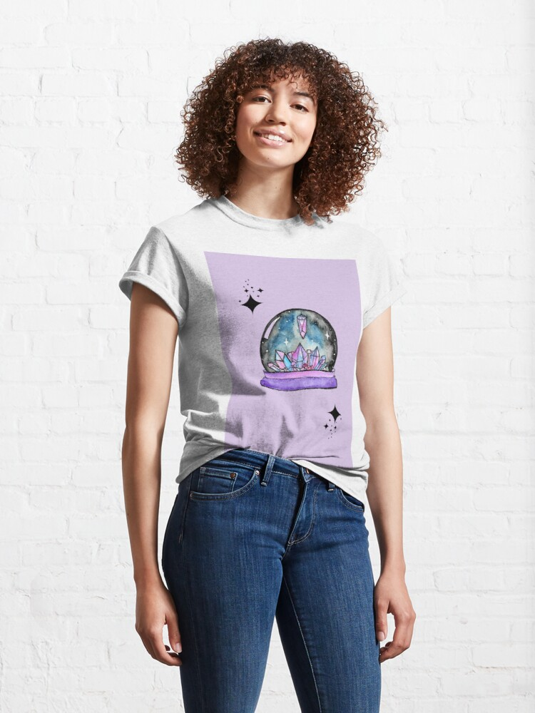 Alternate view of purple crystal ball watercolour art Classic T-Shirt