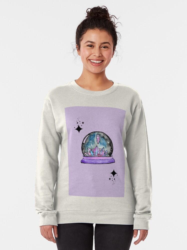 Alternate view of purple crystal ball watercolour art Pullover Sweatshirt