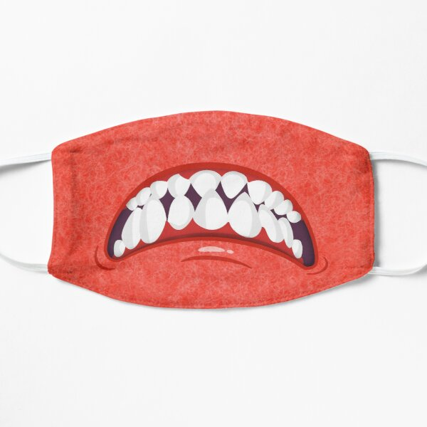 Angry Red Fuzzy Monster Mouth Mask