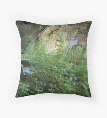 Squatter's garden Throw Pillow