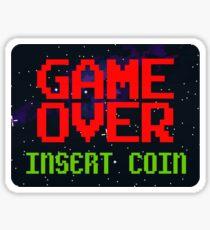 Game Over, Insert Coin Sticker