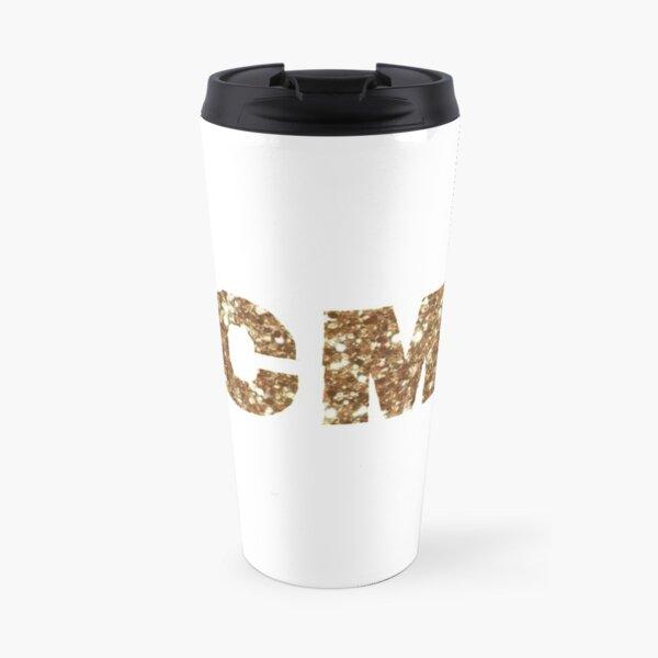 golden glitter KCMO Travel Mug