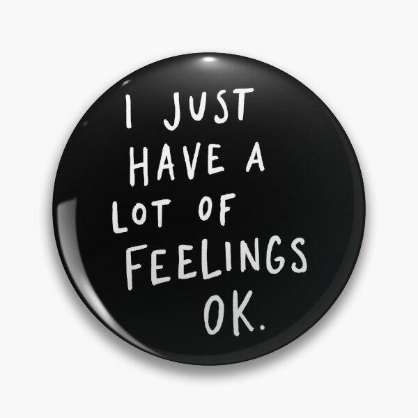 Feelings Black Pin