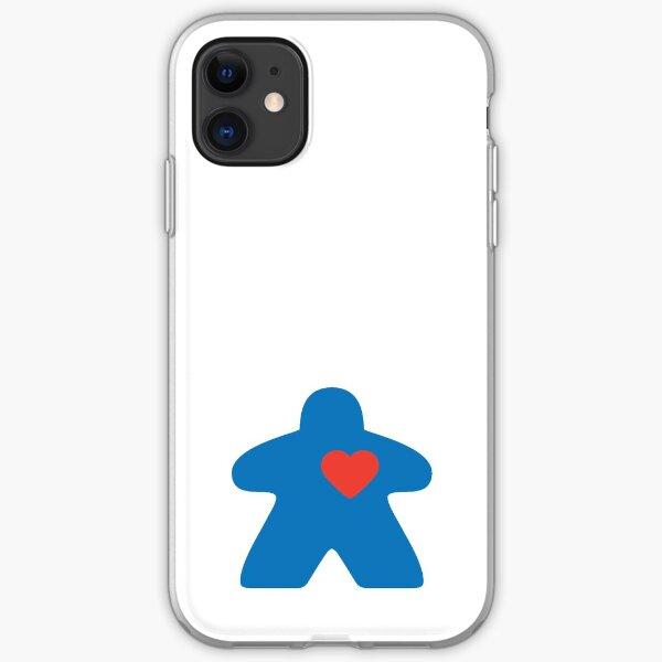 Meeple love - blue iPhone Soft Case