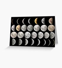 Phases of the Moon Greeting Card