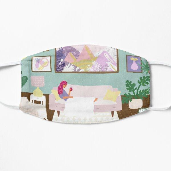 Sunday living room scene Flat Mask