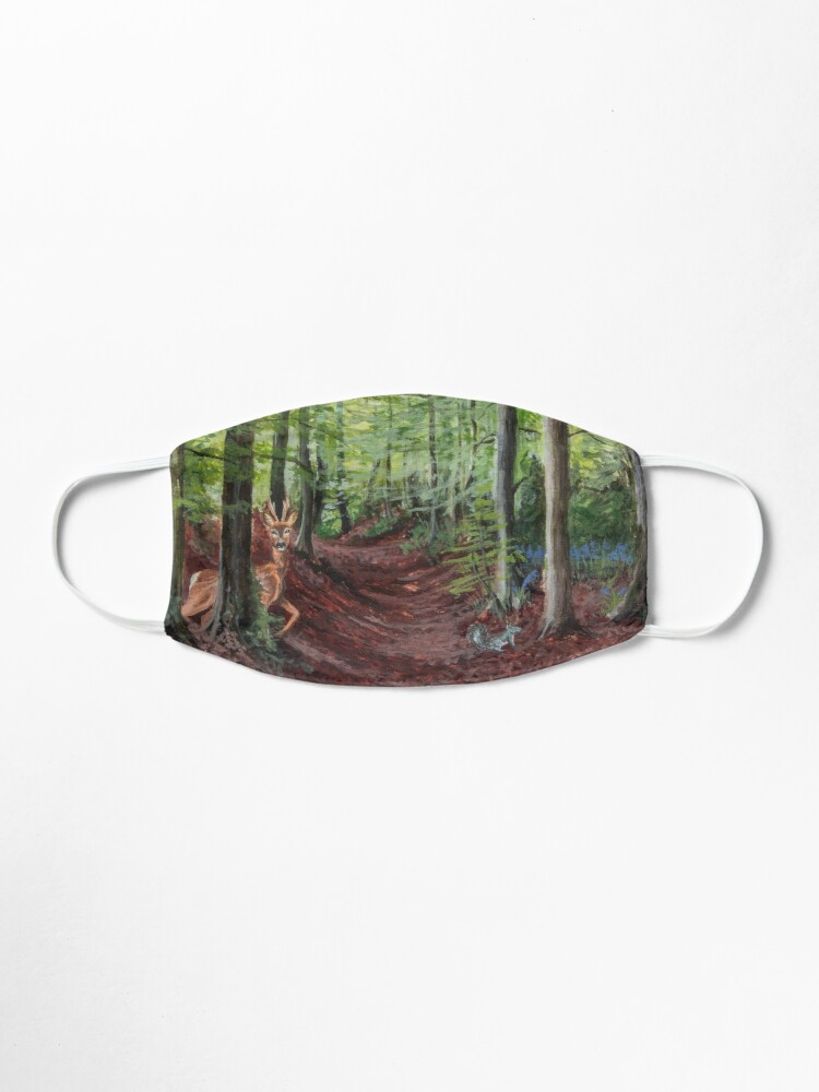 Alternate view of Woodland Animal Illustration Mask