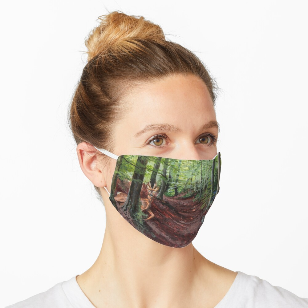 Woodland Animal Illustration Mask