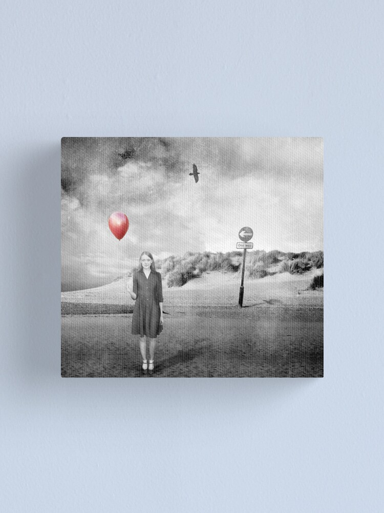 Alternate view of Girl With Red Balloon Canvas Print