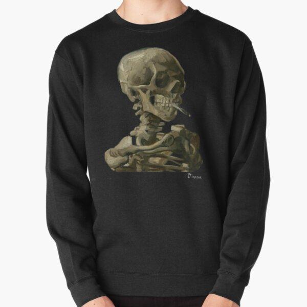 Van Gogh, Head of Skeleton Artwork Skull Reproduction, Posters, Tshirts, Prints, Bags, Men, Women, Kids Pullover Sweatshirt