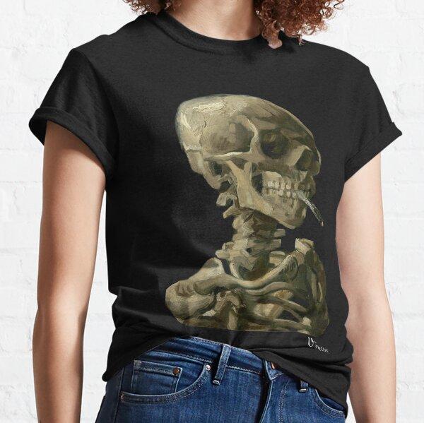 Van Gogh, Head of Skeleton Artwork Skull Reproduction, Posters, Tshirts, Prints, Bags, Men, Women, Kids Classic T-Shirt