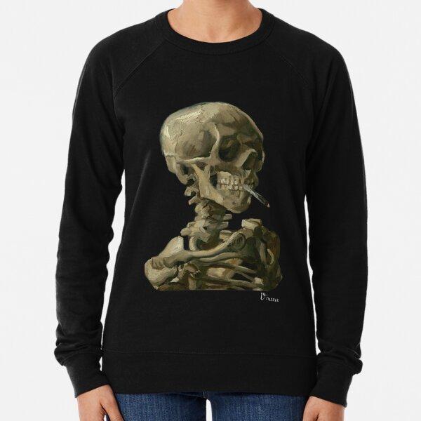 Van Gogh, Head of Skeleton Artwork Skull Reproduction, Posters, Tshirts, Prints, Bags, Men, Women, Kids Lightweight Sweatshirt