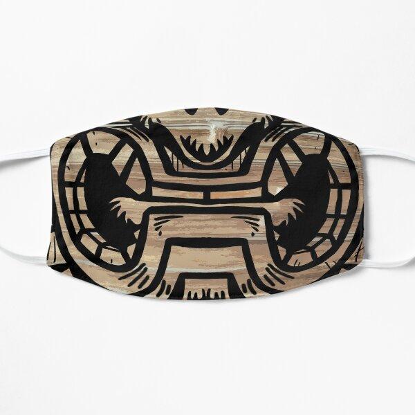 Tiki face mask 1 Flat Mask