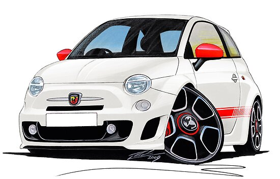 fiat new 500 abarth posters by yeomanscarart redbubble. Black Bedroom Furniture Sets. Home Design Ideas