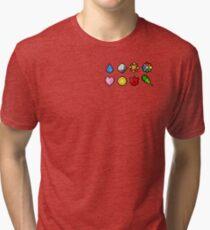 Pokemon Badge Sprites (Kanto Only) Tri-blend T-Shirt