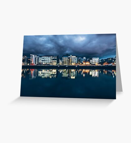 Dublin Docklands, Ireland Greeting Card