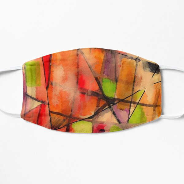 Lines and Color: Abstract Studio Mask