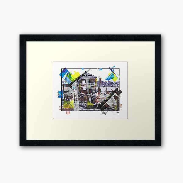 DERELICTION - Watchmans Hut, Pier Head, Liverpool - MOP-0004A Framed Art Print