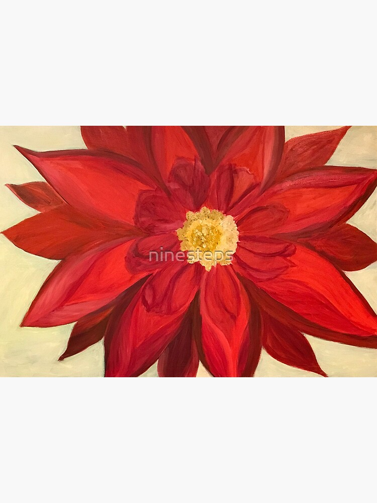 Red Dhalia - A Brightening Image by ninesteps