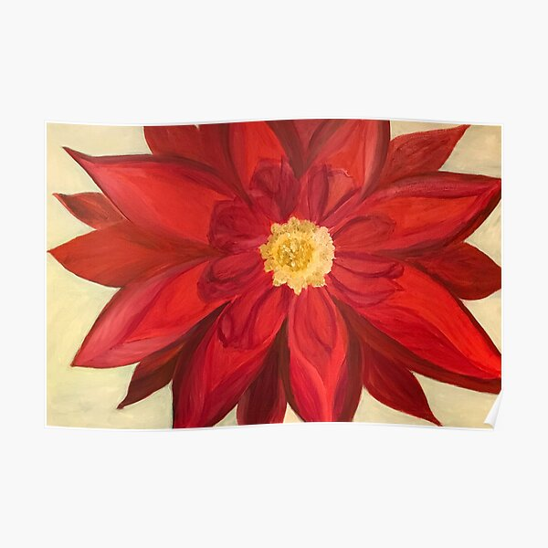 Red Dhalia - A Brightening Image Poster