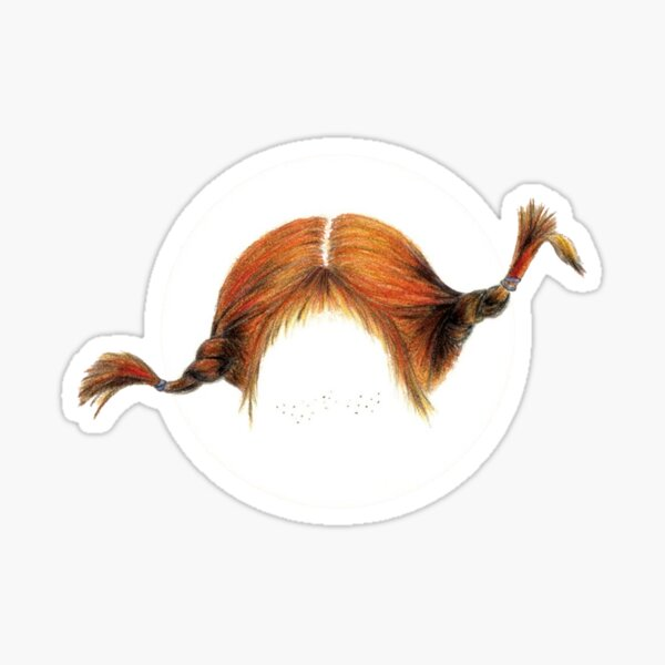 Pippi braids Sticker