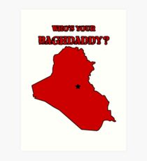 Who's Your Bagdaddy? (Red) Art Print