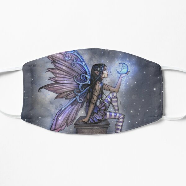 Little Blue Moon Fairy Fantasy Art by Molly Harrison Mask