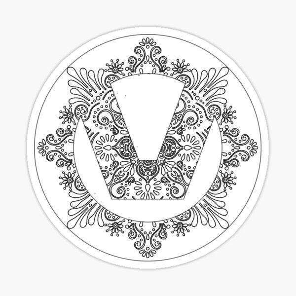 Ornate Swinger Symbol  Sticker