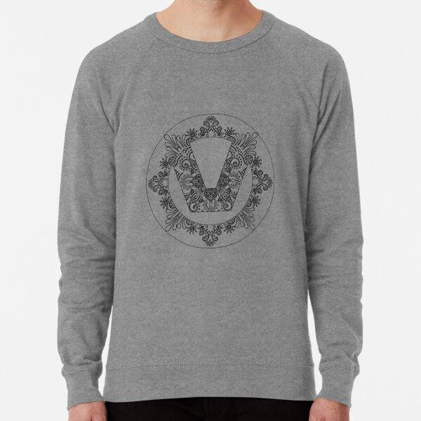 Ornate Swinger Symbol  Lightweight Sweatshirt