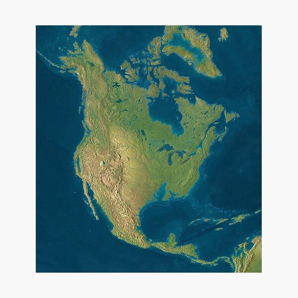 North America Sea Level Rise Photographic Print